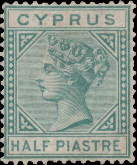 Cyprus_QV_1881_Half_Piastre_Genuine