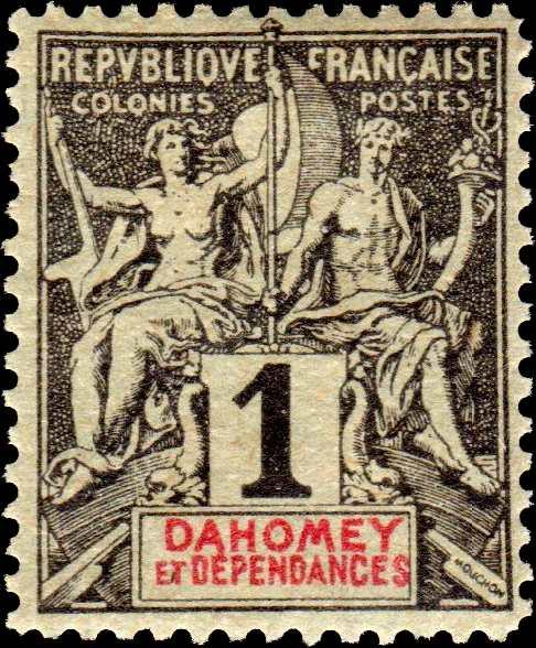 Dahomey_1892_1c_Hirschburger_Forgery