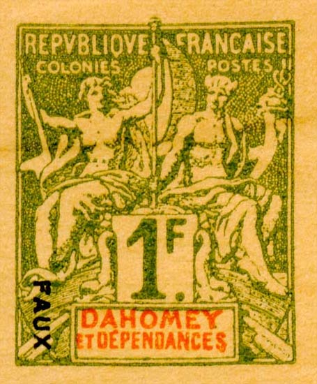 Dahomey_1892_1f_Hirschburger_Forgery