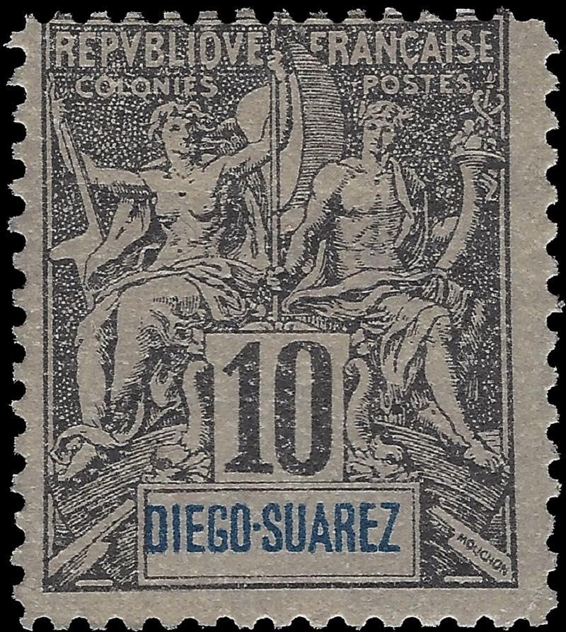 Diego_Suarez_1892_10c_Hirschburger_Forgery