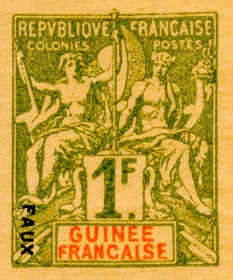 French_Guinea_1892_1f_Hirschburger_Forgery