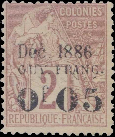 French_Guyana_1886_005_Forgery