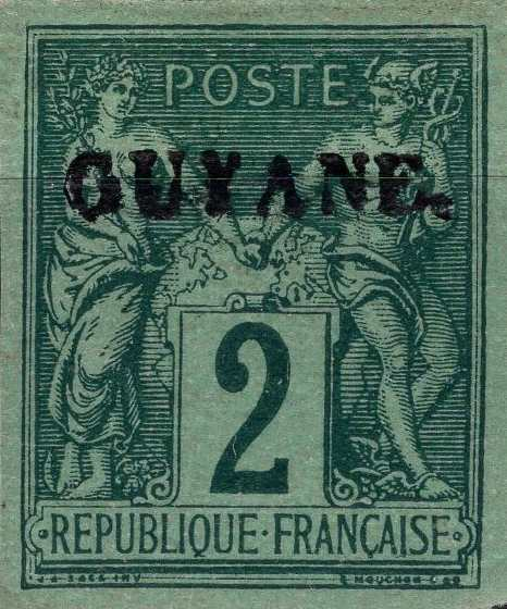 French_Guyana_1892_2c_Forgery