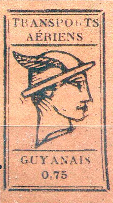 French_Guyana_Airmail_75c_Forgery