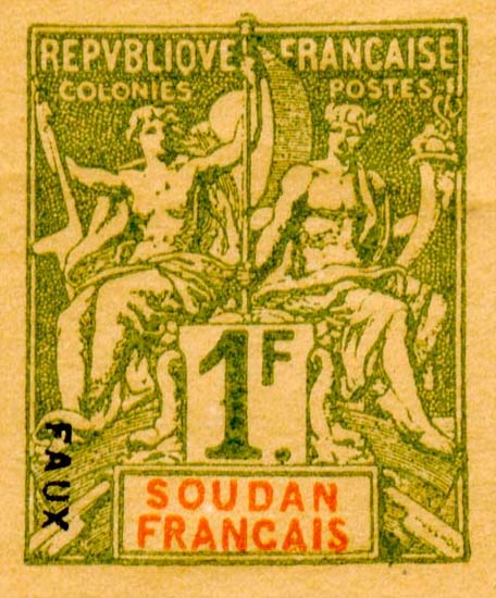 French_Sudan_1892_1f_Hirschburger_Forgery
