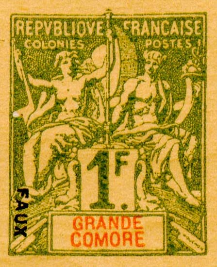 Grande_Comore_1892_1f_Hirschburger_Forgery