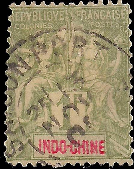 Indo_China_1892_1fc_Genuine