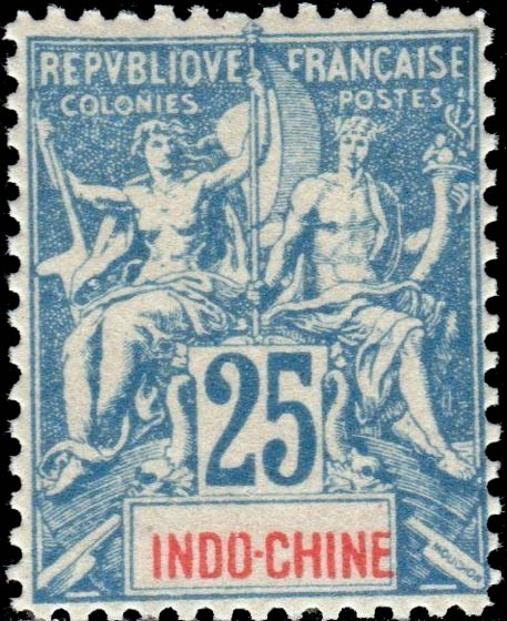 Indo_China_1892_25c_Hirschburger_Forgery