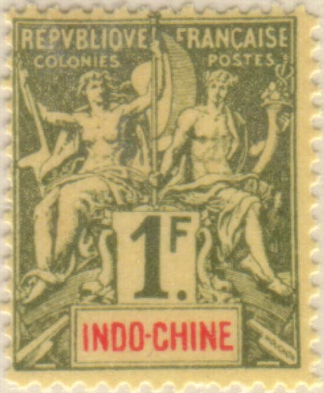 Indo_China_1892_French_Colonies_Navigation_Commerce_1f_Hirschburger_Forgery