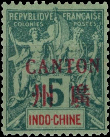 indo_china_canton_surcharge_5c_hirschburger_forgery