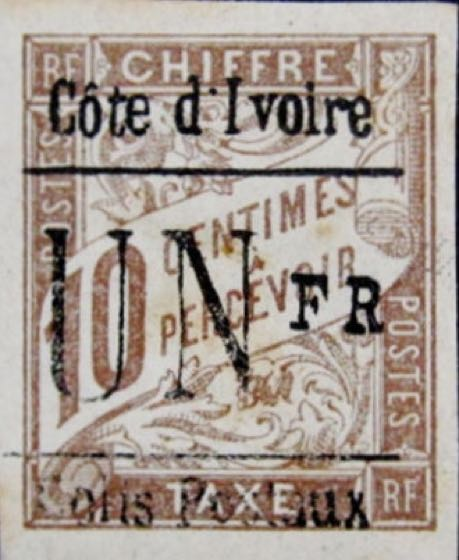 Ivory_Coast_Parcel_Post_Stamp_1Fr_Forgery