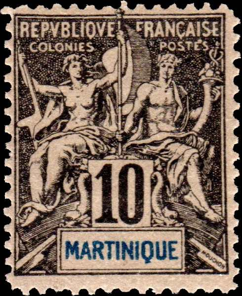Martinique_1892_10c_Hirschburger_Forgery