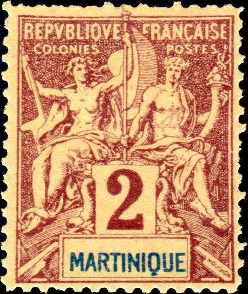 Martinique_1892_2c_Hirschburger_Forgery