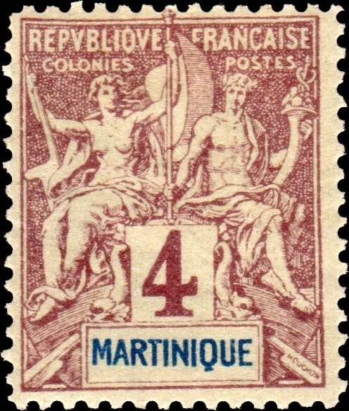 Martinique_1892_4c_Hirschburger_Forgery