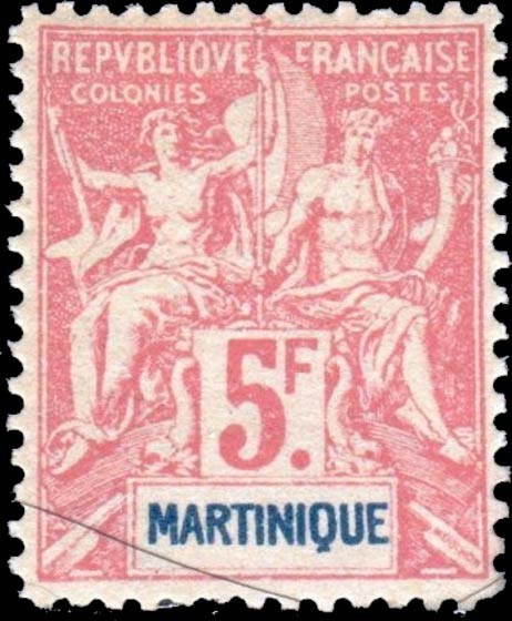 Martinique_1892_5f_Hirschburger_Forgery