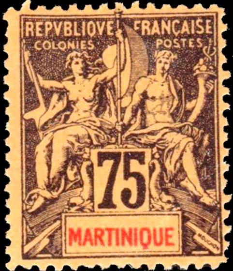 Martinique_1892_75c_Hirschburger_Forgery