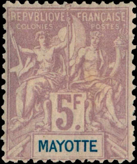 Mayotte_1892_5f_Genuine