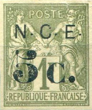 New_Caledonia_1886_5c-on-1f_Forgery