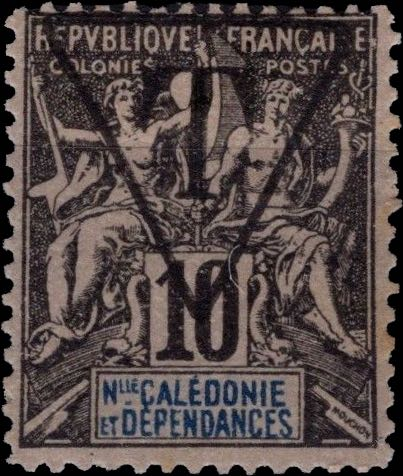 New_Caledonia_1892_10c_T_Hirschburger_Forgery