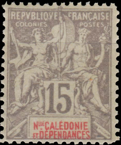 New_Caledonia_1892_15c_Hirschburger_Forgery
