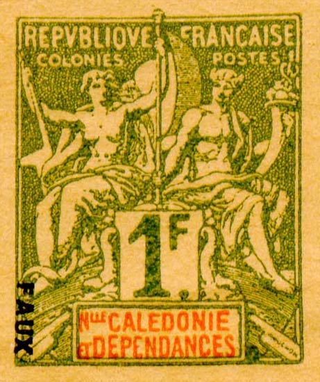 New_Caledonia_1892_1f_Hirschburger_Forgery