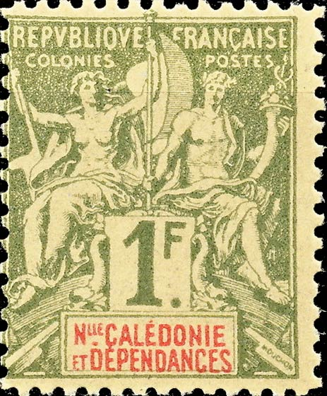 New_Caledonia_1892_1f_Hirschburger_Forgery2