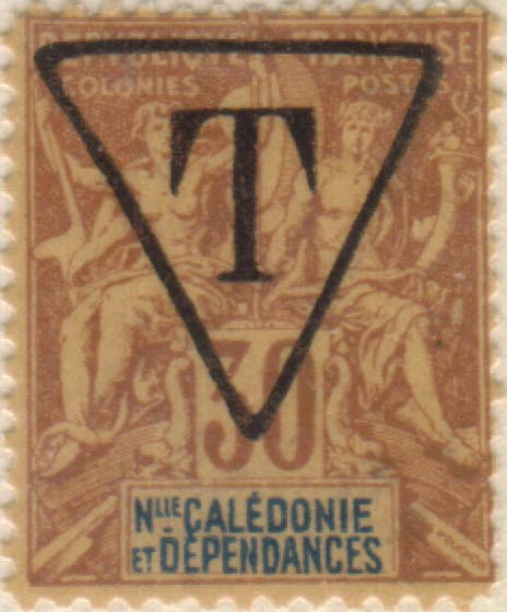 New_Caledonia_1892_30c_T_Hirschburger_Forgery