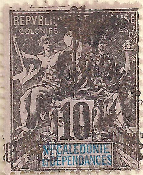 New_Caledonia_1903_10c_black_Genuine
