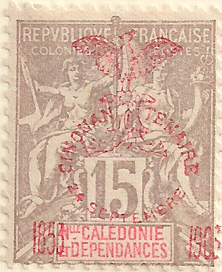 New_Caledonia_1903_15c_Genuine