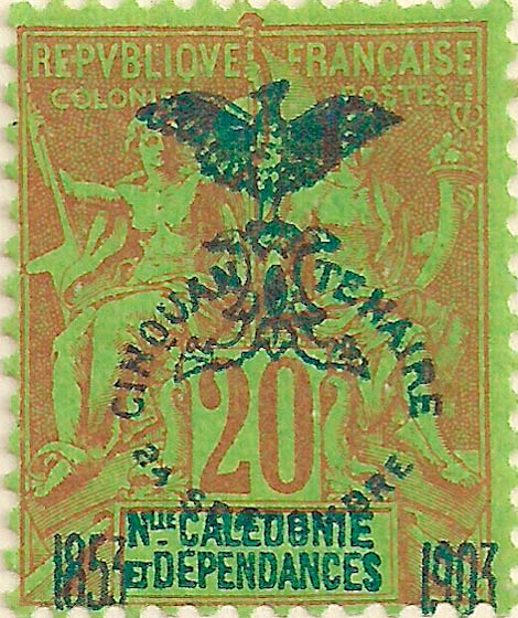New_Caledonia_1903_20c_Genuine
