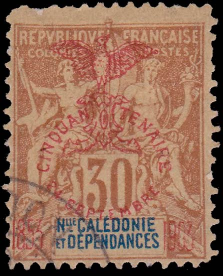 New_Caledonia_1903_30c_Forgery