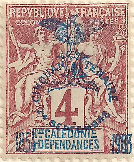 New_Caledonia_1903_4c_Genuine