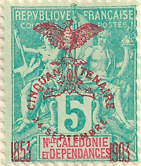 New_Caledonia_1903_5c_Genuine