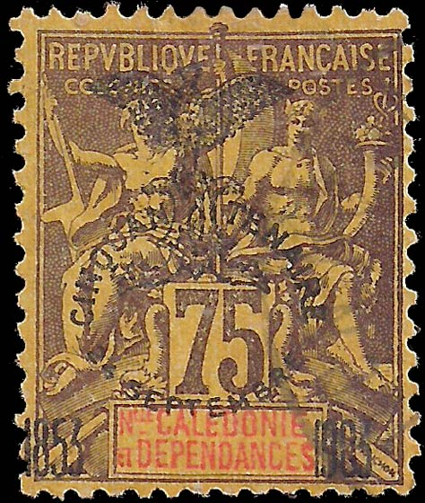 New_Caledonia_1903_75c_Genuine
