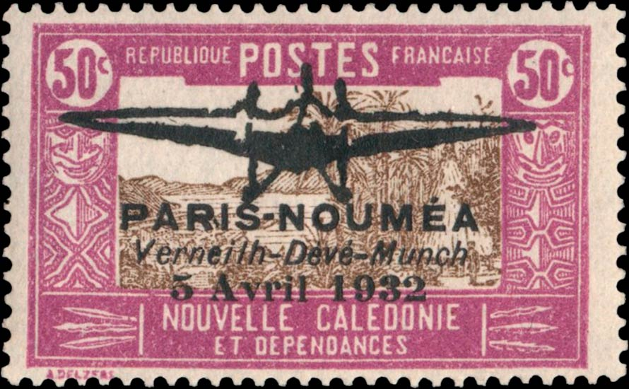 New_Caledonia_1932_Airmail_50c_Genuine