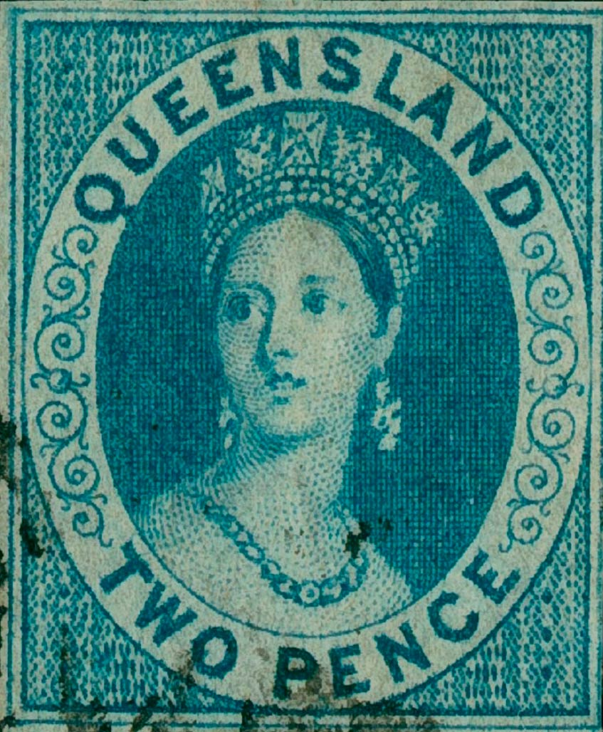 Queensland_1860_QV_2p_Genuine