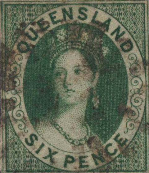 Queensland_1860_QV_Chalon_6p_Genuine