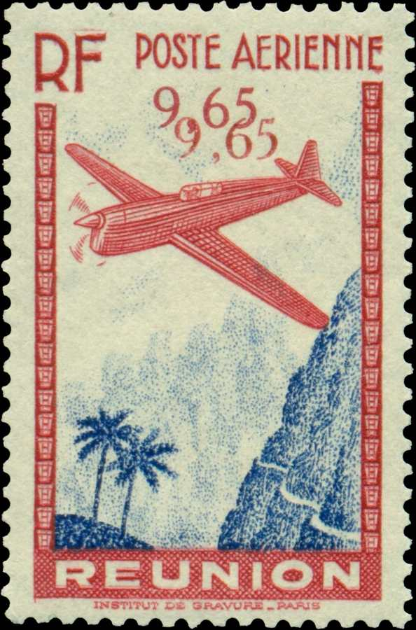 Reunion_ Air_Mail_double_variety_Forgery