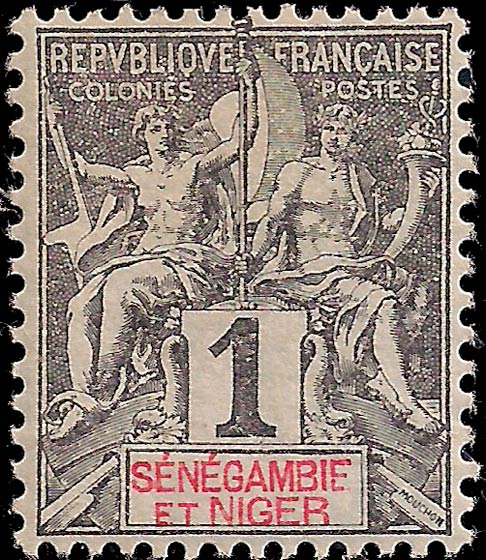 Senegal-Niger_1892_1c_Genuine