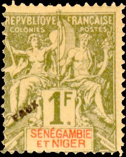 Senegal-Niger_1892_1f_Hirschburger_Forgery