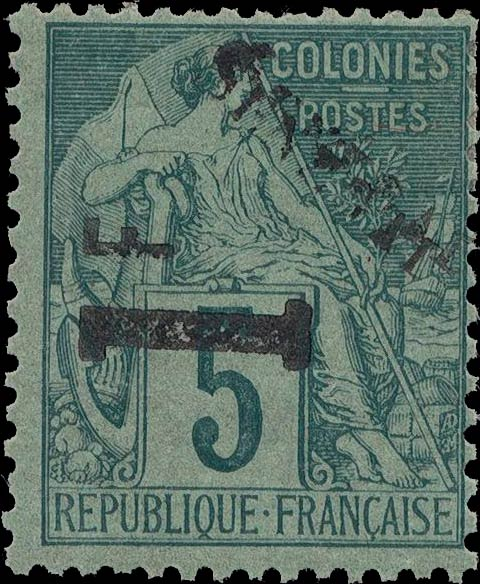 Senegal_1892_1f-on-5c_black_double_Genuine
