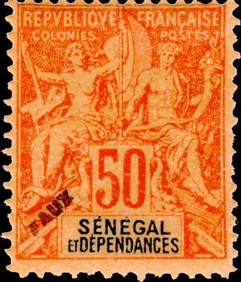 Senegal_1892_50c_Hirschburger_Forgery1