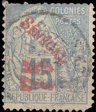 Senegal_1892_75c-on-15c_red_Forgery
