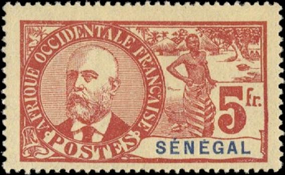 Senegal_1906_General_Faidherbe_5f_Genuine