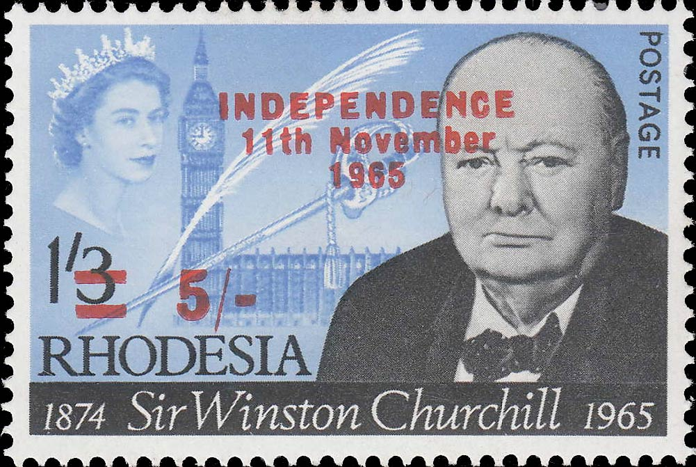 Southern_Rhodesia_1965_Churchill_5sh_Overprint_Cape-Town_Forgery