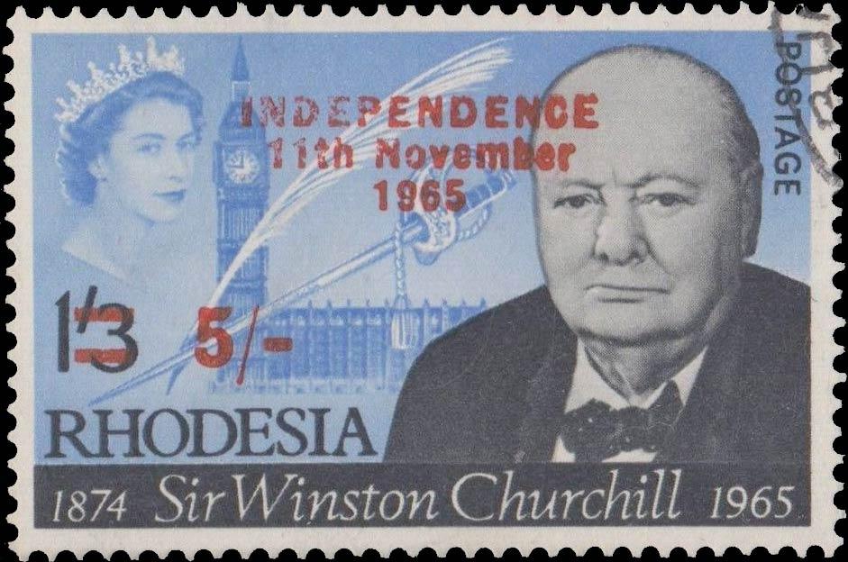 Southern_Rhodesia_1965_Churchill_5sh_Overprint_Forgery