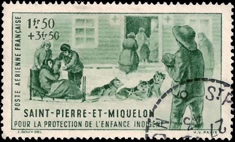 St-Pierre_Et_Miquelon_1943_1f50c_Forged_Postmark