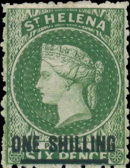 St.Helena_QV_1s-6p_green_Genuine