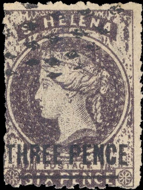 St.Helena_QV_3p-6p_purple_Forgery