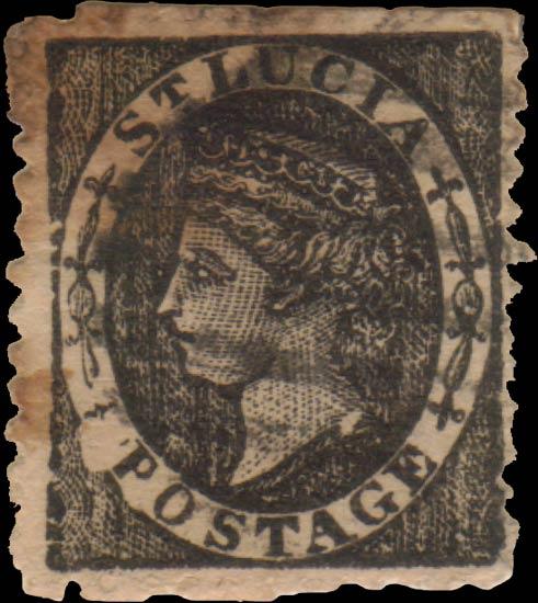 St.Lucia_QV_1p_black_Taylor_Forgery